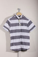 Unbranded Men's Loose Fit Short Sleeve Striped Casual Shirts & Tops