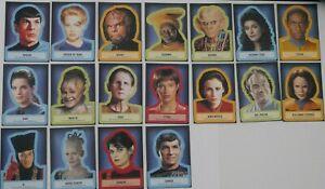 Rittenhouse Star Trek Aliens Complete Sticker Chase Set