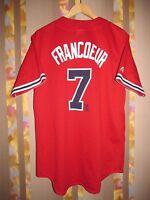 ATLANTA BRAVES MAJESTIC JERSEY SHIRT BASEBALL MLB JEFF FRANCOEUR #7 RED