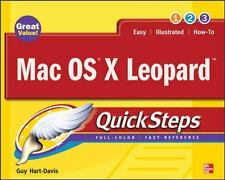 Mac OS X Leopard (QuickSteps) Hart-Davis, Guy Paperback