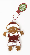 Gingerbread Christmas Tree Hanging Decorations Amy