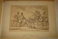 Antique 1799 Thomas ROWLANDSON 'Cit's Airing Themselves on a Sunday' Engraving