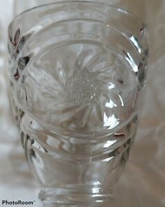 4 Clear Cut Glass Whirlwind Star of David Ceiling Fan Light Shades Pre-owned