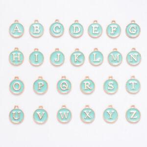 1set Alloy Alphabet Letter A~Z Pendants Charms for Initial Jewelry Bracelet