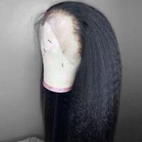 Yaki Kinky Lace Front Human Hair Wigs Peruvian Remy Hair Full Lace Wig Women PY8
