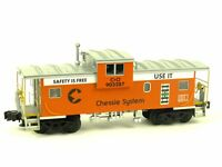 Atlas Chessie Safety Extended Vision Caboose 6616 Big O Scale Rolling Stock