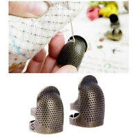 Copper Finger Protector Thimble Adjustable Fingertip Thimble for Sewing Embroide