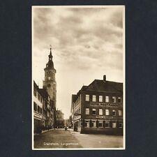 CRAILSHEIM Langestrasse / Hotel Post-Faber Pail Weber / Kirche * Foto-AK um 1930