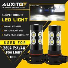 AUXITO 5202 2504 PSX24W LED Fog Light Super Bright 6000K Halogen Replacement 50W