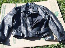 MENS BUFFALO LEATHER MOTORCYCLE JACKET W/ PISTOL POCKET