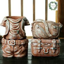 Clearance Sale! 4 piece pot set! Cowboy style! Succulent/ $25 for 4!