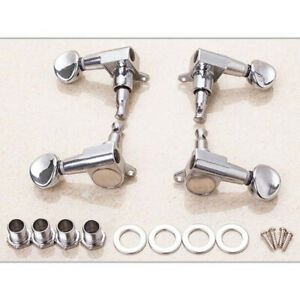 Tuning Pegs Machine Heads 2R2L For Ukulele 4 Strings Guitar Bass 4Pcs