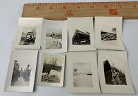 Original WWII Photo Lot of 8 USMC Marines in Beaufort SC Camp Training Rifles 3