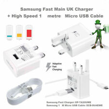 Adaptive Fast Charger Plug + Micro USB Cable for Samsung Galaxy S7 S6 Edge S5