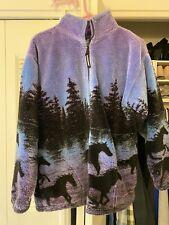 BLACK MOUNTAIN OUTDOOR Horses Ultra Plush Fleece Jacket Size Medium