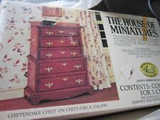 HOUSE OF MINIATURES Chippendale Chest on Chest  Dollhouse Craft to make VINTAGE