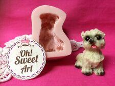 Dog Puppy II doggie Silicone Mold Food Cake Decoration soap topper Cupcake (FDA)