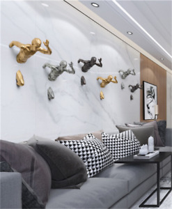 Stunning Resin Sculpture Rock running Man Wall Art ~Hanging Decoration