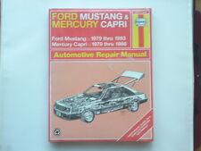 Ford mustang 1979-93, mercury capri 1979-86 haynes manuel new old stock