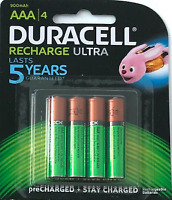 Duracell Ultra Rechargeable Batteries AAA 900 mAh  New & Sealed