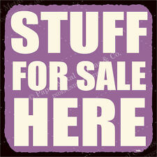 (VMA-G-1016) Stuff For Sale Here Vintage Metal  Retro Tin Sign