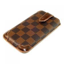 Karo Muster Design Handy Tasche Schutz Hülle Luxus Etui Case Style Cover Schale