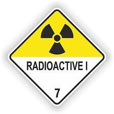Radioactive I #01 Warning Sticker Atomic Symbol Laptop Door Truck Motorcycle Car