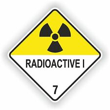Radiactivos me # 01 advertencia pegatina Atómica símbolo Laptop Puerta Camioneta Moto Auto