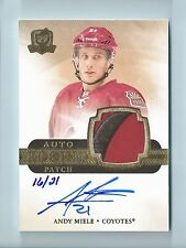 ANDY MIELE 2011/12 THE CUP GOLD RC AUTO PATCH 3 COLOR PATCH AUTOGRAPH AUTO /21