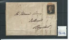 wbc. -  GB - QUEEN VICTORIA - PB02 - 1d BLACK ON COVER - to Bagshot? 31 Oct.1840