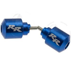 Blue Handle Bar End CNC RR Engraved For Honda CBR RR Cap Weight Slider Etched