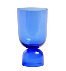 Hay Bottoms Up Electric Blue Glass Vase Small Good Condition