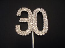 Diamante Number 30 Cake Topper