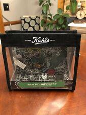 Kiehl's Cosmetic Bag Black White Clear Bag Case