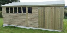 20 x 12 19mm Tanalised & Pressure Treated T&G Apex workshop Shed