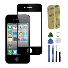 Black Front Replacement Part LCD Glass Tools Kit Screen Repair for iPhone 4 4s