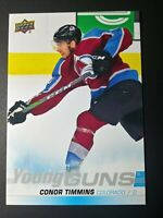 2019-20 Upper Deck Series 1 Jumbo Young Guns #203 Conor Timmins Oversized Rookie