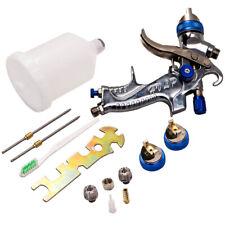 HVLP Spray Gun Spraygun Kit Primer Gravity Feed 600CC Air Regulator 1.4/1.7/2MM
