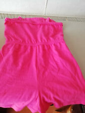 2 x Girls pink playsuits + Pink long sleeve top  - age 7 years - BUNDLE