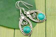 Ohrringe Ohrhänger Silber 925 Sterlingsilber Türkis blau grün Stein