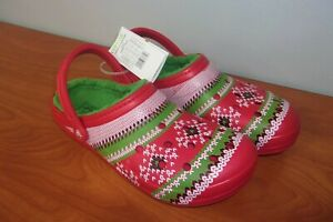 Crocs Classic Printed Lined Mens Clogs Shoes 13 ~NEW~