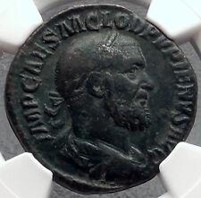 PUPIENUS 238AD Rome SESTERTIUS Authentic Ancient Roman Coin VICTORY NGC  i58220