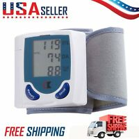 LCD Digital Wrist Blood Pressure Monitor Heart Rate Beat Pulse Meter Measure MS