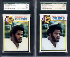1979 Topps Earl Campbell Oilers #390 RC Rookie SGC 92 NM/MT+ 8.5 - 2 Card Lot