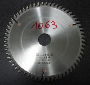 HM-Sägeblatt Handkreissäge  D-200mm, S-3,2mm, B-30mm, Z-60WZ