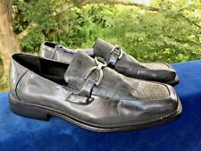 TODD WELSH Faux Leather Croc Alligator Dress Casual LOAFERS Mens Shoes Size 10