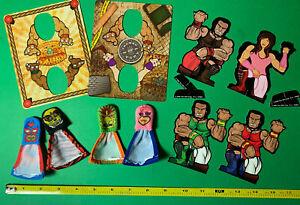 2009 Taco Bell Finger Thumb Luchador Wrestler Toy Premium Lot 2 Sets