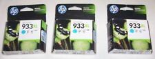 3 x HP genuine 933XL cyan cartridges 2017 for 7110,7610,6100,6600, 6700++
