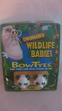 Endangered Wildlife Babies Bow Tyes Panda Bear Holder By Seneca 1996   NEW t104