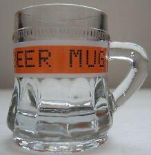 Recession Beer Mug Shot Glass Orange Banner by Happily Unmarried Dot Matrix